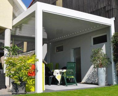 Pergolas-Lame Bioclimatique-Open-blanche