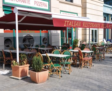 Store terrasse double pente