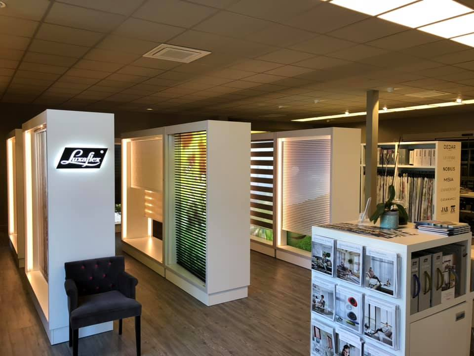 Showroom des stores de marques Luxaflex